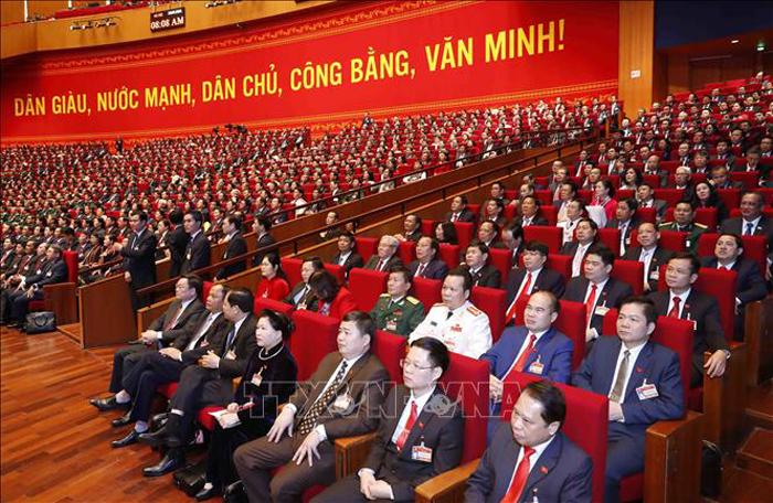 Đại biểu dự phiên khai mạc Đại hội. (Ảnh: TTXVN)