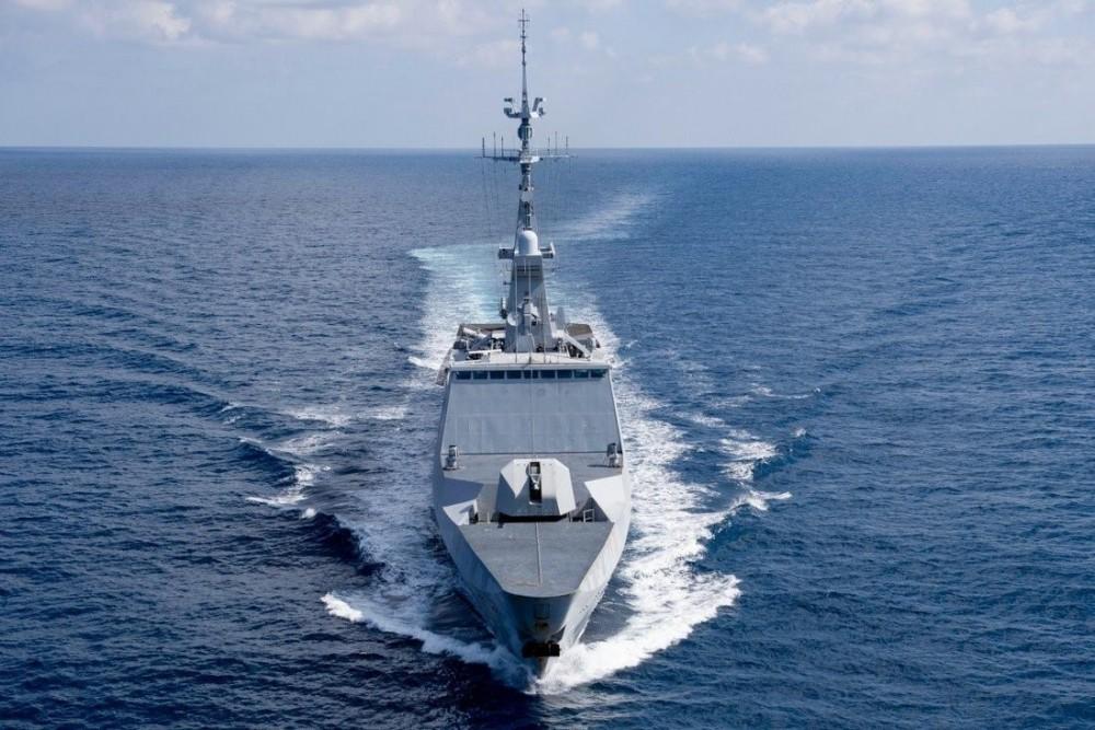 Tàu khu trục Surcouf tham gia sứ mệnh thường niên Jeanne d'Arc của Pháp ở Biển Đông (Nguồn: Twitter)