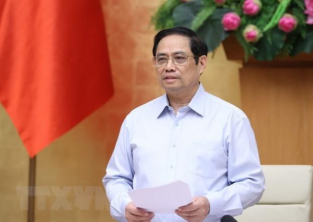 Thủ tướng Phạm Minh Chính phát động phong trào thi đua đặc biệt (Ảnh: TTXVN)
