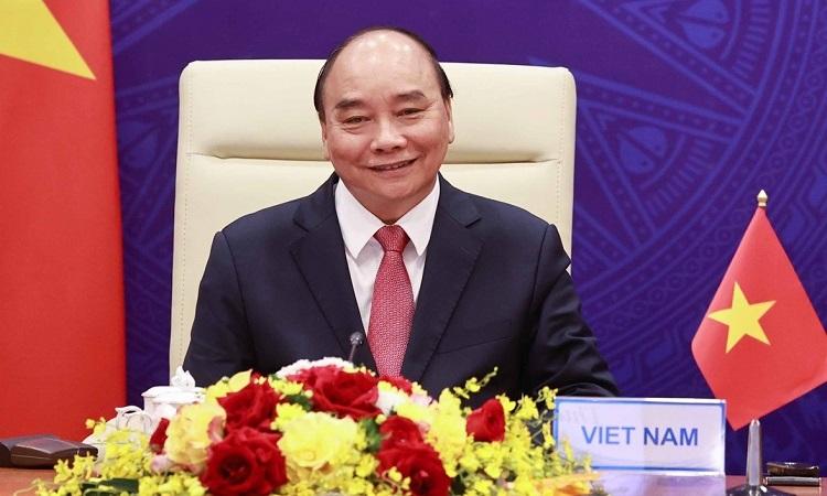 Chủ tịch nước Nguyễn Xuân Phúc gửi Thông điệp chào mừng đến Đại hội đồng AIPA 42. (Nguồn: TTXVN)