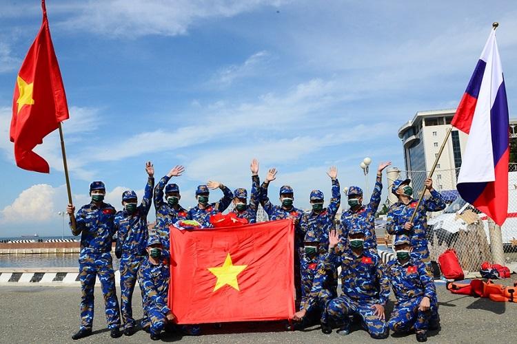 Đội tuyển Hải quân Nhân dân Việt Nam đã có một ngày thi đấu thành công ngoài mong đợi (Ảnh: QĐND)